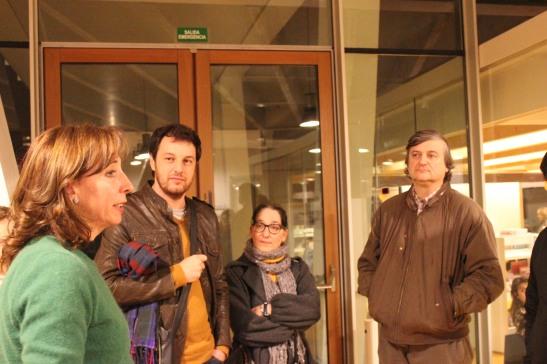 Con Cristina Ameijeiras, na Biblioteca