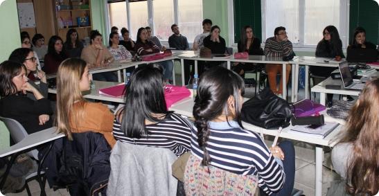 Na sesión previa co alumnado de Atención á Dependencia e Educación Infantil do CPR Tomás Barros