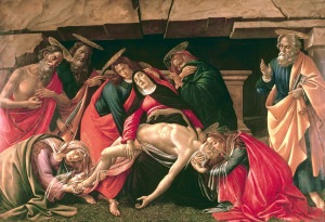 Lamentación sobre Cristo morto, de Sandro Boticelli, Alte Pinakothek de Múnich, 1490-1492